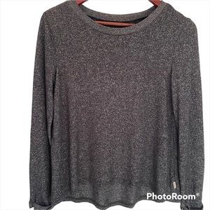 Roxy grey long sleeve top size small Some wear on elbows as scene in photos